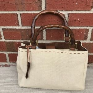 Fossil ZB9147 Beige Brown Handbag Purse